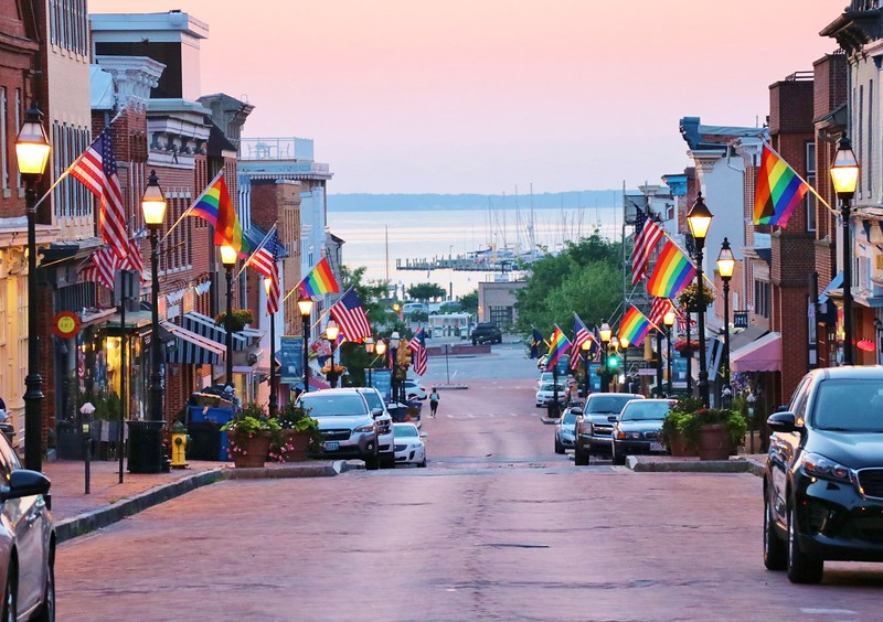 Main Street getting ready for a colorful weekend