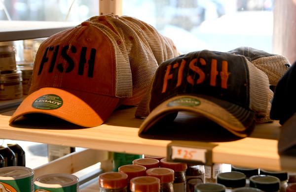 JIM VAIKNORAS/Staff photo Fish hats at Fish in Newburyport.