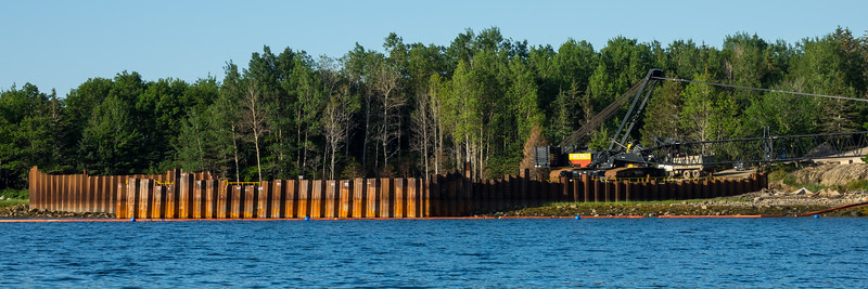 THE OAK ISLAND CURSE CONTINUES - NEW COFFER DAM ADDITION AND HUGE CRANE