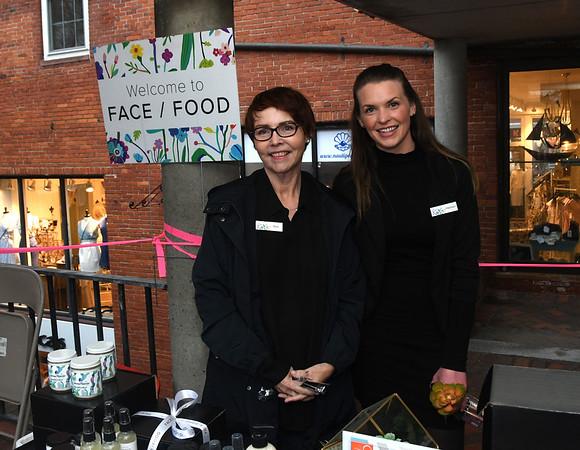 JIM VAIKNORAS/Staff photo Kim Black and Madison McGuire of Face/Food on Inn Street for the Newburyport Spring Invitational.