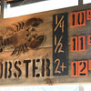 JIM VAIKNORAS/Staff photo Lobster sign at Fish in Newburyport.