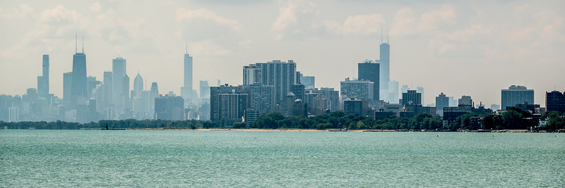 Chicago from Northwestern University, Evanston.