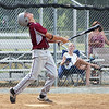 STAN HUDY - SHUDY@DIGITALFIRSTMEDIA.COM<br /> South Troy Dodger batter Brandon Roberts looks up at an eventual pop out to first base July 22, 2016 against the Saratoga Lightning during the Connie Mack North Atlantic Regional at Geer Park in Troy.