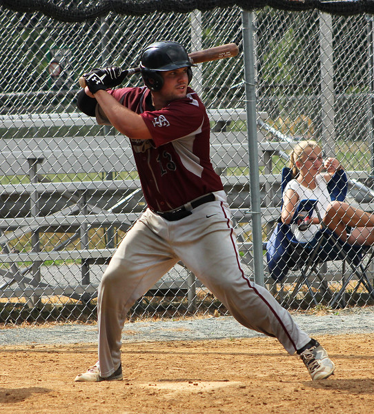 STAN HUDY-SHUDY@DIGITALFIRSTMEDIA.COM<br /> South Troy Dodgers batter Anthony Butler stands at the ready against the Saratoga Lightning July 22, 2016 during the Connie Mack North Atlantic Regional hosted by the South Troy Dodgers at Geer Field in Troy.