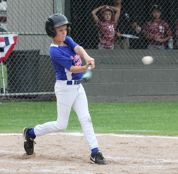 STAN HUDY - SHUDY@DIGITALFIRSTMEDIA.COM<br /> Saratoga National Little League batter Jack Ragle swings at a pitch during the July 15, 2016 Little League 9-10 District 10_11 championship game at Mechanicville-Stillwater.