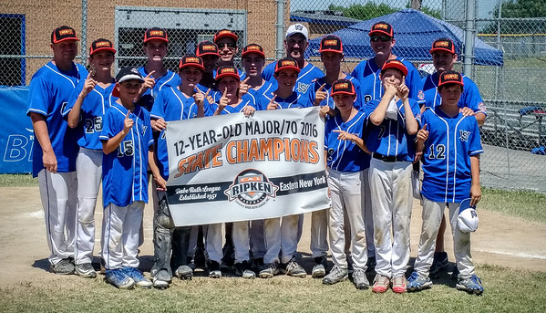 STAN HUDY - SHUDY@DIGITALFIRSTMEDIA.COM The newly merged Wilton/Saratoga American 12U Cal Ripken Baseball squad remained undefeated through district and Eastern New York State tournament play, earning an 8-5 win over Rome Monday afternoon to advance to the Mid-Atlantic Regional in NJ.