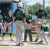 STAN HUDY - SHUDY@DIGITALFIRSTMEDIA.COM<br /> Clifton Park Plainsmen 12U slugger Kyle Rubilotta (53) is greeted at home plate after delivering a towering home run during the Eastern New York State tournament Saturday at Boght Baseball Complex in Latham in the bottom of the third inning.