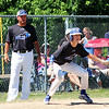 STAN HUDY - SHUDY@DIGITALFIRSTMEDIA.COM<br /> North Colonie Blue base runner Trey Mariano leads off third base during Sunday morning's 12U Cal Ripken Baseball Eastern New York State semifinal against Wilton/Saratoga American. Wilton won, 7-2.