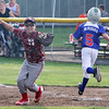STAN HUDY - SHUDY@DIGITALFIRSTMEDIA.COM<br /> Mechanicville-Stillwater first baseman Zach Pingelski reacts to securing the final out during the July 15, 2016 Little League 9-10 District 10_11 championship game at Mechanicville-Stillwater.