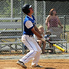 STAN HUDY-SHUDY@DIGITALFIRSTMEDIA.COM<br /> Saratoga Lightning batter Evan Ryan reacts to his pop up to the short stop against the South Troy Dodgers July 22, 2016 during the Connie Mack North Atlantic Regional hosted by the South Troy Dodgers at Geer Field in Troy.