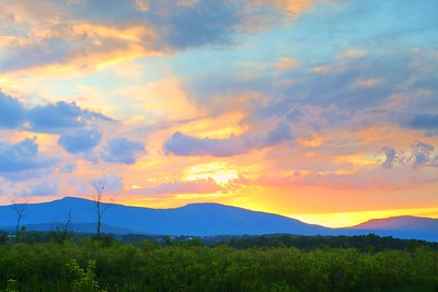 Sun Setting on the Catskills