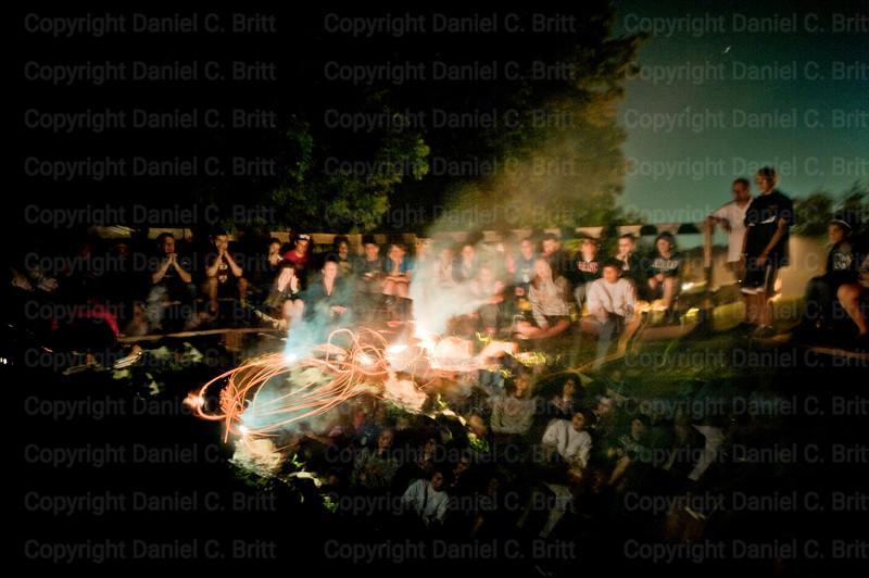 Camp Fire Multiple Exposure