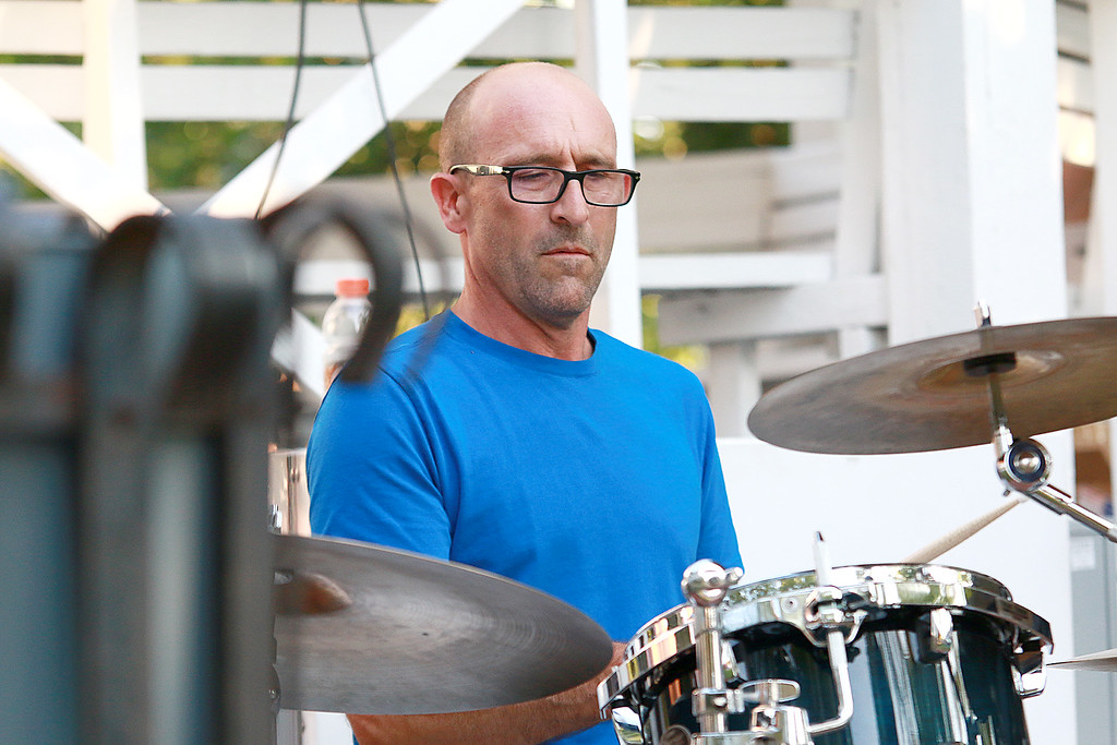 . Augusts Concert on the Upper Common in Fitchburg featured De La High a local Latin/ pop group. Playing the drums with the group was A.J. Sausville. SENTINEL & ENTERPRISE/JOHN LOVE