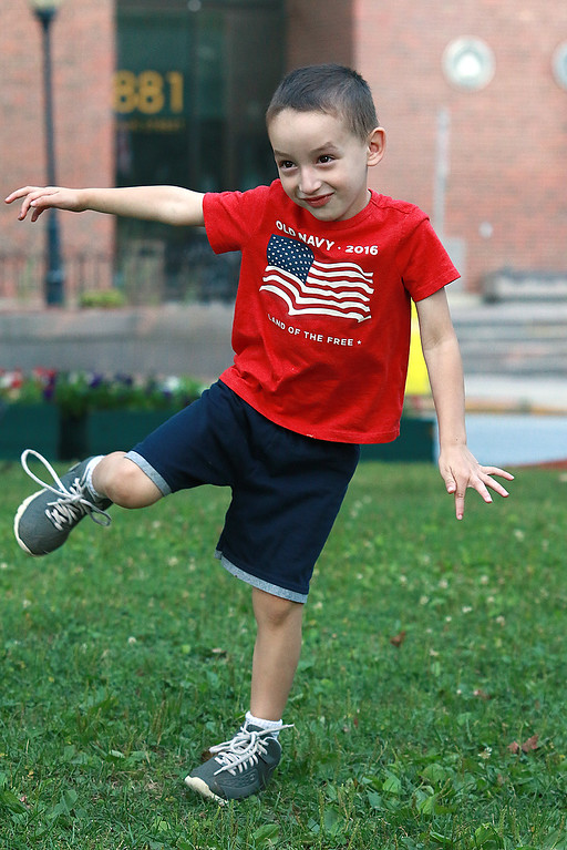 . Augusts Concert on the Upper Common in Fitchburg featured De La High a local Latin/ pop group. Jason Gil, 3, of Fitchburg enjoyed the music so much he just could not sit still and ran around and danced to almost all the songs. SENTINEL & ENTERPRISE/JOHN LOVE
