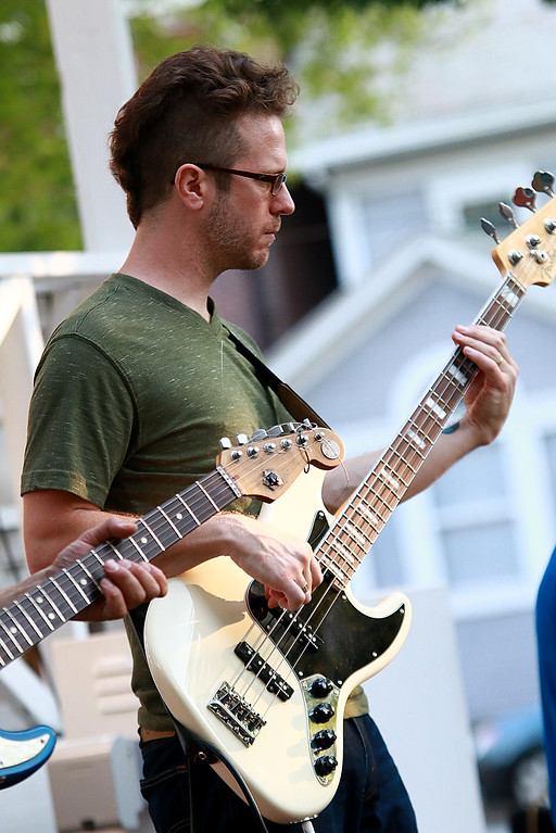 . Augusts Concert on the Upper Common in Fitchburg featured De La High a local Latin/ pop group. Playing the bass with the group was Mike Kelly. SENTINEL & ENTERPRISE/JOHN LOVE