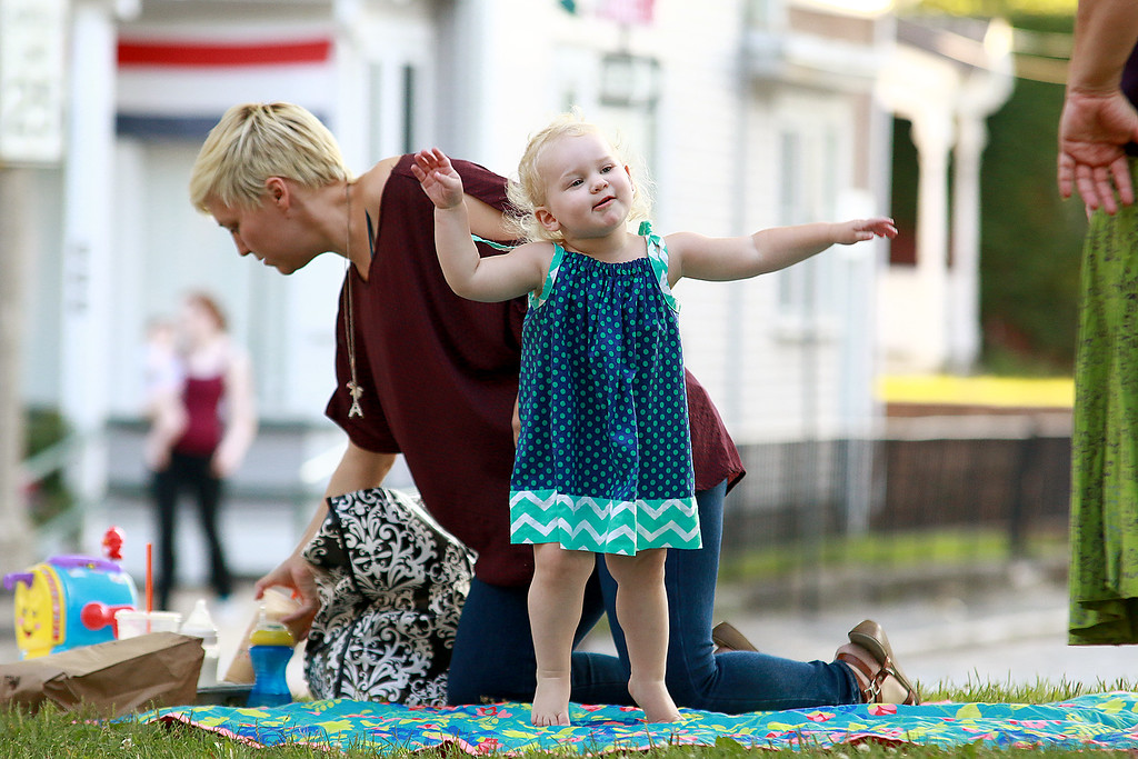 . Augusts Concert on the Upper Common in Fitchburg featured De La High a local Latin/ pop group. Iris Ashman Kelly, 1, enjoyed the music so much she danced like no one was watching during the show. SENTINEL & ENTERPRISE/JOHN LOVE