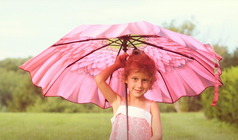 cropped Pink Umbrella