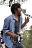 SAN FRANCISCO, CA-JUNE 30: Sameer Gadhia performs with Young The Giant at the Oysterfest at Golden Gate Park in San Francisco, CA on June 30, 2012. (Photo by Clayton Call/Redferns)
