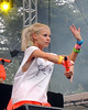 SAN FRANCISCO, CA, AUGUST 10:  Yolandi Vi$$er perfoms with Die Antwoord at the Outside Lands Festival at Golden Gate Park in San Francisco, CA on August 10, 2012. (Photo by Clayton Call/Redferns)
