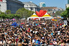 SAN FRANCISCO, CA-JUNE 24: The crowd at the San Francisco Pride Festival in San Francisco, CA on June 24, 2012. (Photo by Clayton Call/Redferns)