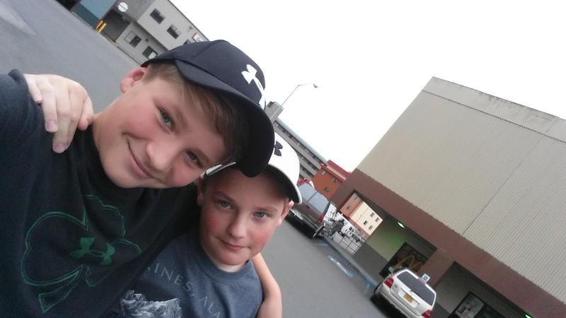 My boys at McDonalds....Ketchikan Alaska on our way to Summer in Haines