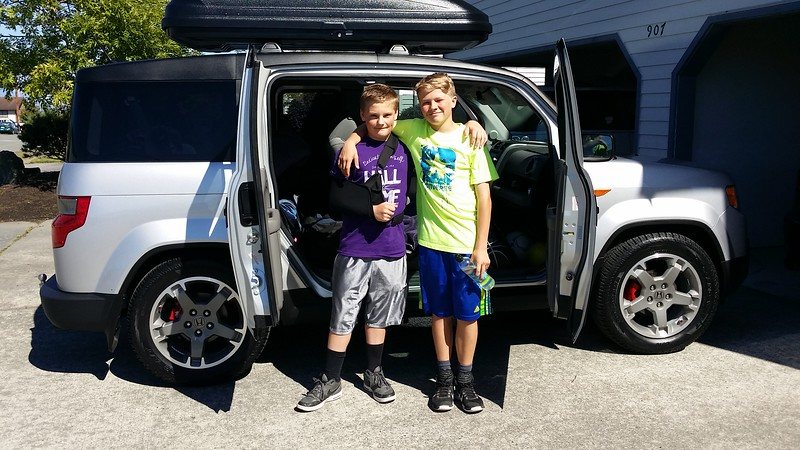 Last day of school as 7th graders...all loaded up and headed to Haines Alaska for the Summer.....   :)