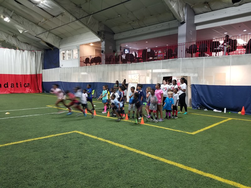 Summer Soccer Camp - And they're off!