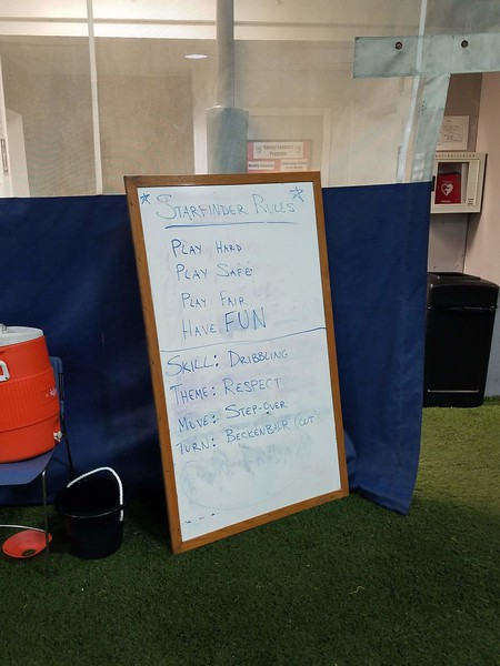 Summer Soccer Camp - Start of Day - Rules!