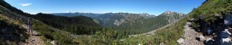 Panorama from the Kendall Katwalk Trail.
