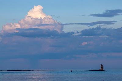 Sunset Storm at Sea