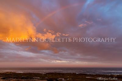 Orange Clouds and Rainbows
