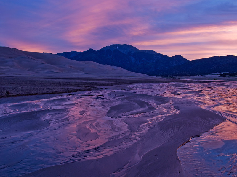 Medano Creek at the Great Sand Dunes National Park, Colorado