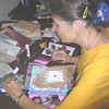 Mary Diamond, from Hawaii, works on her altered book.  SI'ers come from everywhere!!