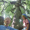 At the Upside-Down tree.  Mike from the North UU Congregation, Lewis Center Ohio is on the left.