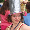 Stylin' hat - note kicky pink border.  Ready for any occasion.
