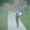 The heavy Tuesday rain.