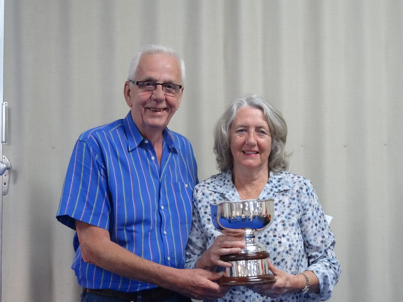 Senior Swiss Teams winners - Kath Nelson & Alan Nelson (and Bernard Goldenfield, Rhona Goldenfield)