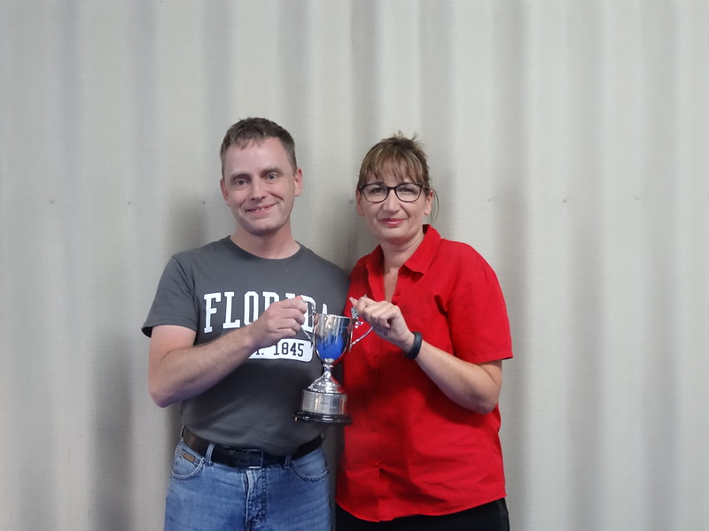 Mixed Pairs winners - Robert Miller & Nicole Cook