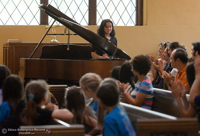 Musicians from across the north state take part in the Chico Summer Music Academy directed by Robert Bowman at the Bidwell Presbyterian Church in Chico, Calif. Friday July 13, 2018.  (Bill Husa -- Enterprise-Record)