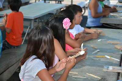 Students Building Catapults - 2014 Summer Engineering Academy