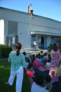 Students Watch the Egg Drop