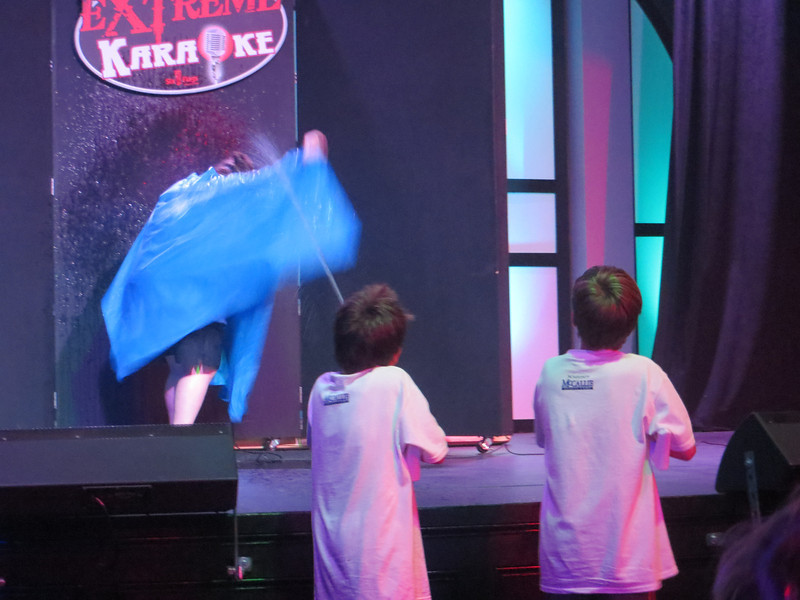 McCallie boys taking part in Extreme Karaoke
