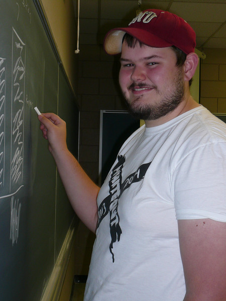 Jared at the chalkboard