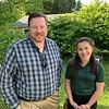 Jared Green of Carlisle and Gillian Catano of Sudbury, from the U.S. Fish & Wildlife Service