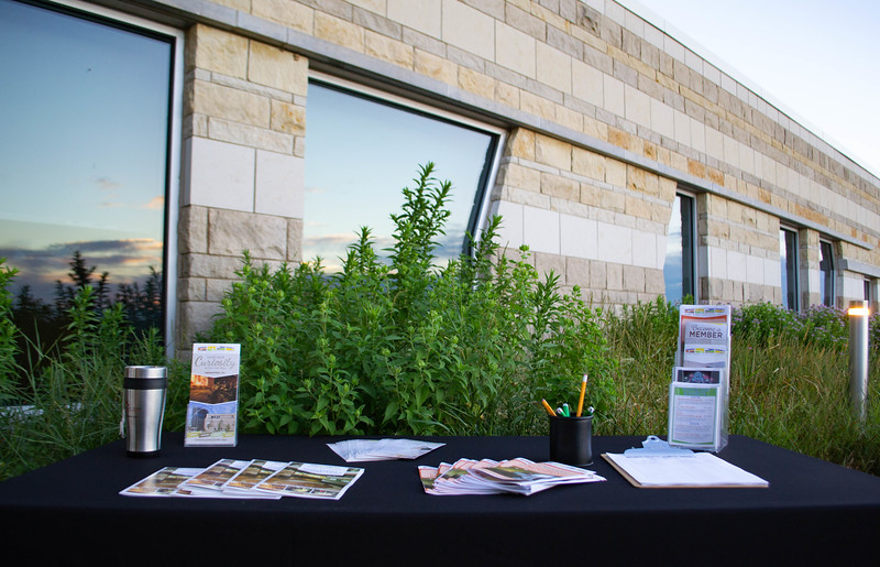 The Flint Hills Discovery Center hosts several programs throughout the summer in which brochures were displayed on June 21, 2018.  Programs include tours of the Flint Hills areas, children's camps, field trips, and science activities. (Madison Jahnke | Collegian Media Group)