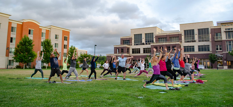 The Douglass Community Recreation Center, located at 900 Yuma Street, offers various opportunities for activities including pickleball, group fitness classes, and dance classes. The center also hosts yoga classes every Saturday at 10 a.m. in the parking lot. (Madison Jahnke | Collegian Media Group)