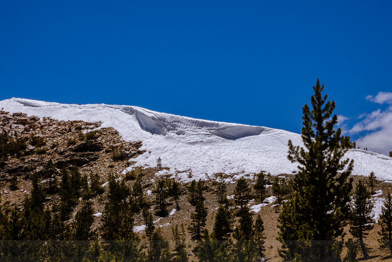 Cornice above the Gaylor Lakes Trail