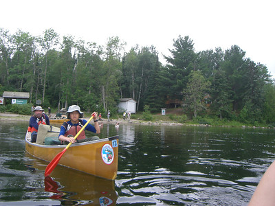 Leaving Prairie Portage, entering Quetico via Inlet Bay on Basswood Lake.
