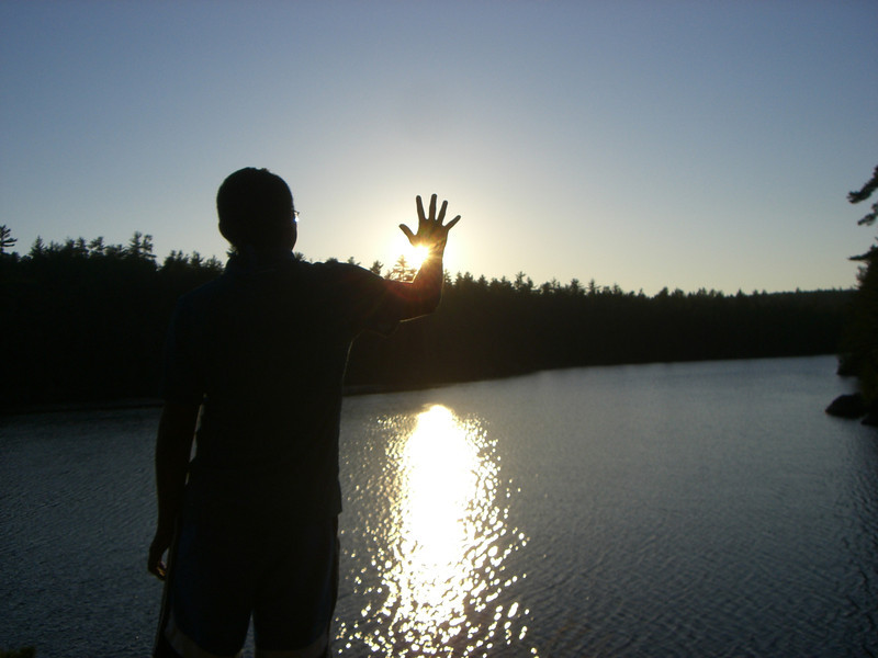 Sunset on Williams Lake, day three