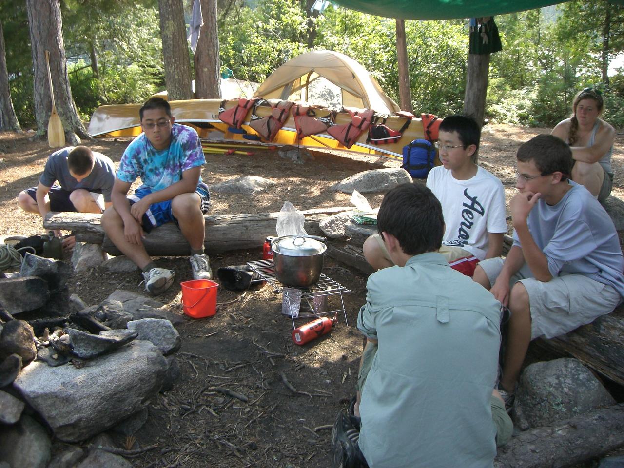 Campsite on Agnes Lake